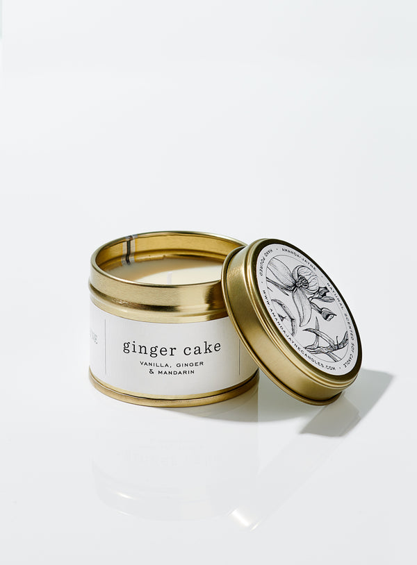 Ginger Cake Gold Tin Candle