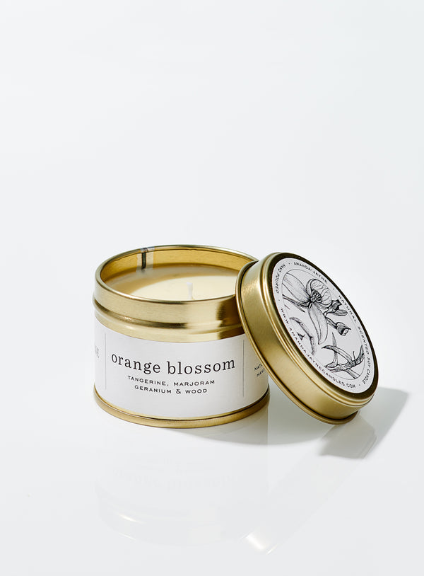 Orange Blossom Gold Tin Candle