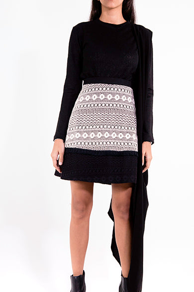 Crochet Black Skirt