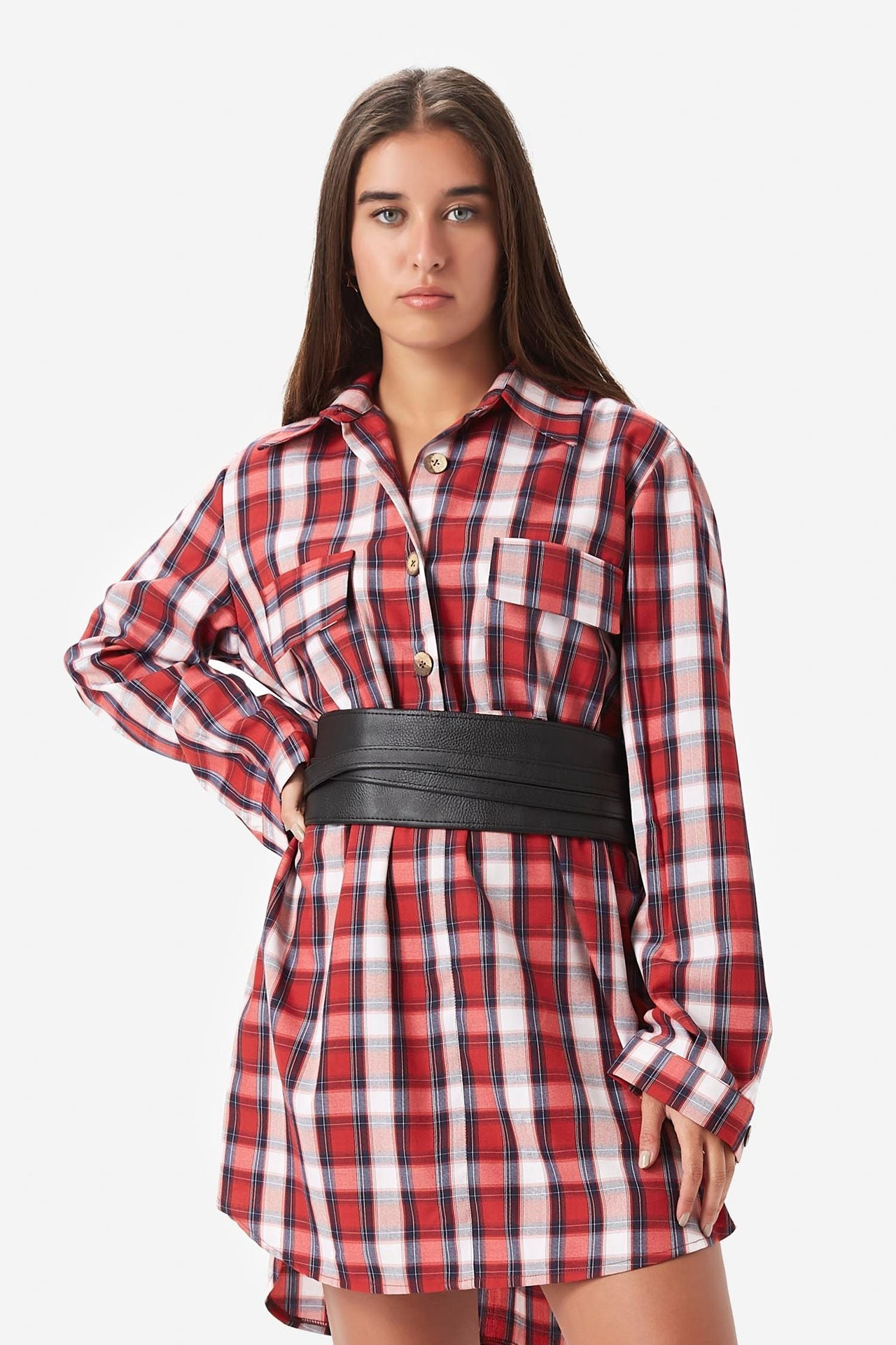 Dress-Shirt with Belt