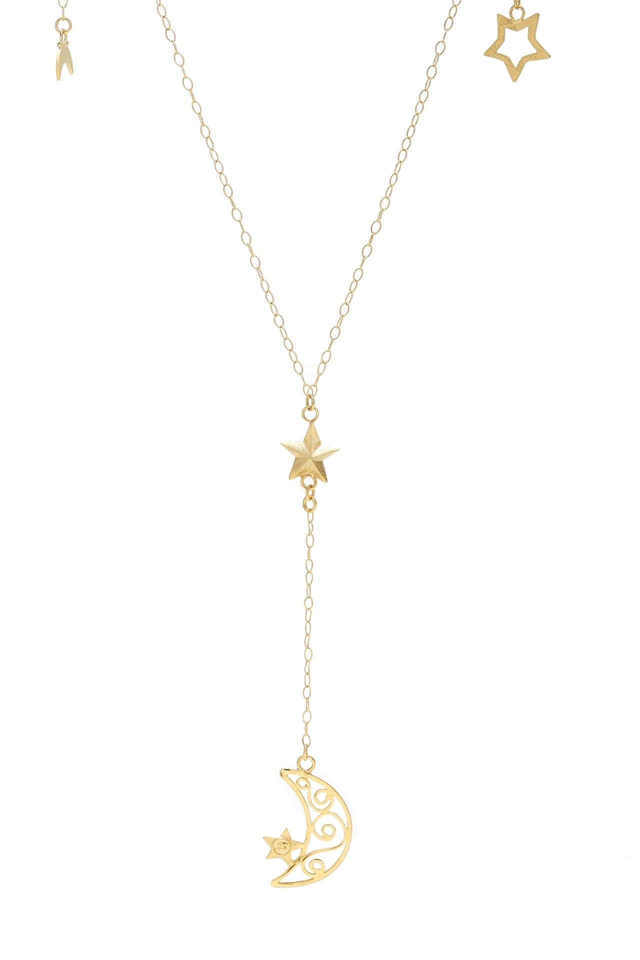 Halfmoon & Stars Necklace