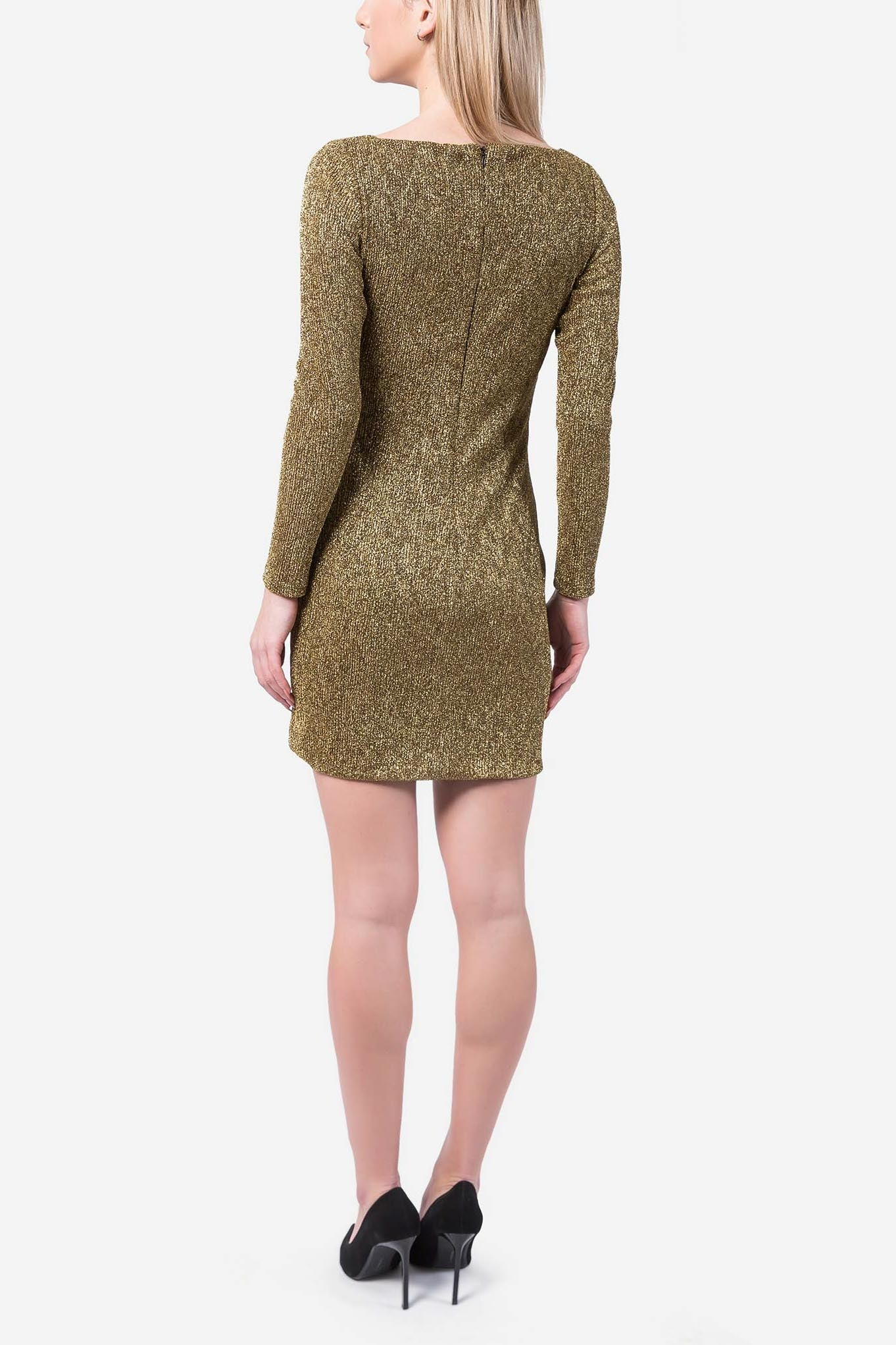 Gold Dress With Sleeves
