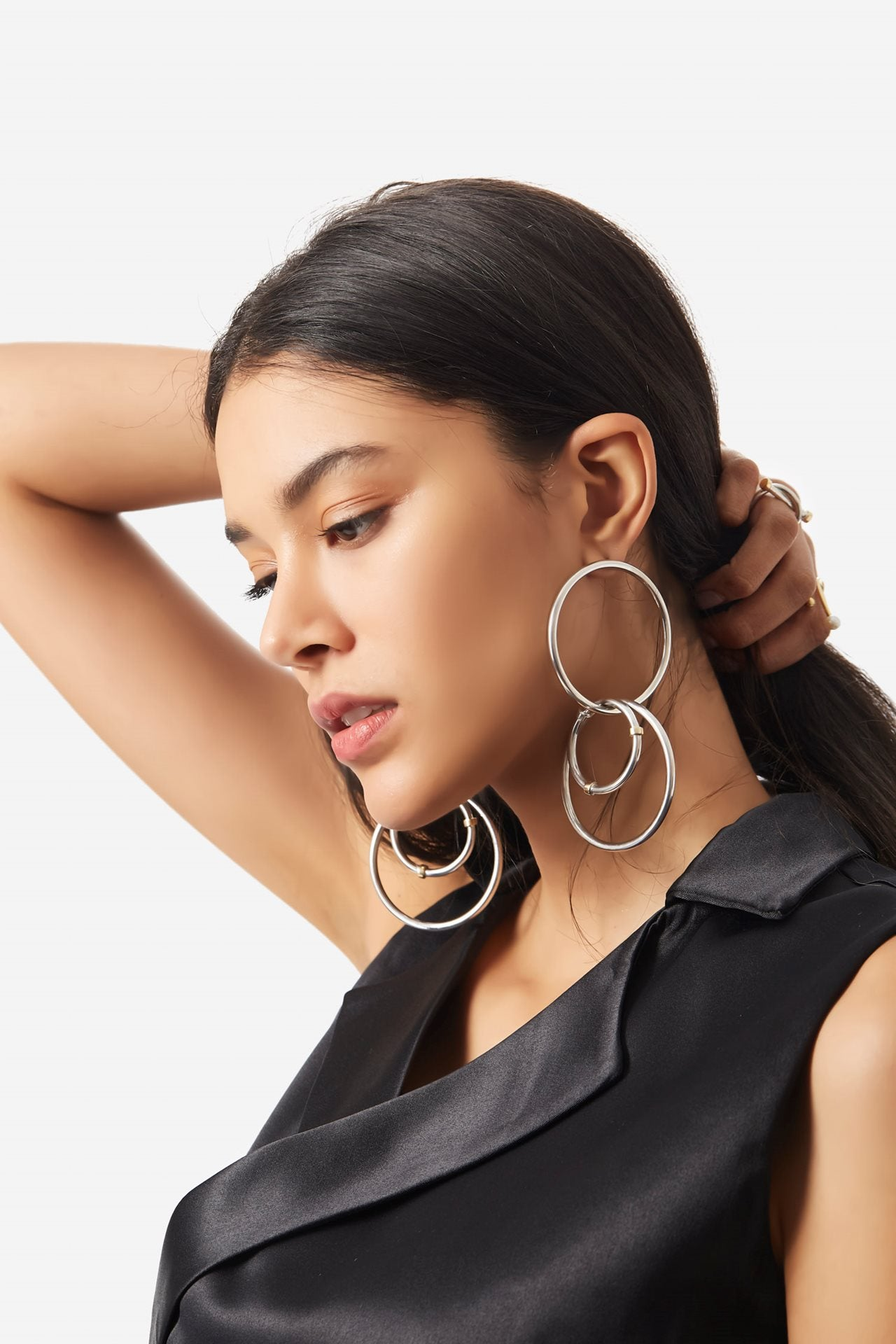 Layered Hoops Earrings