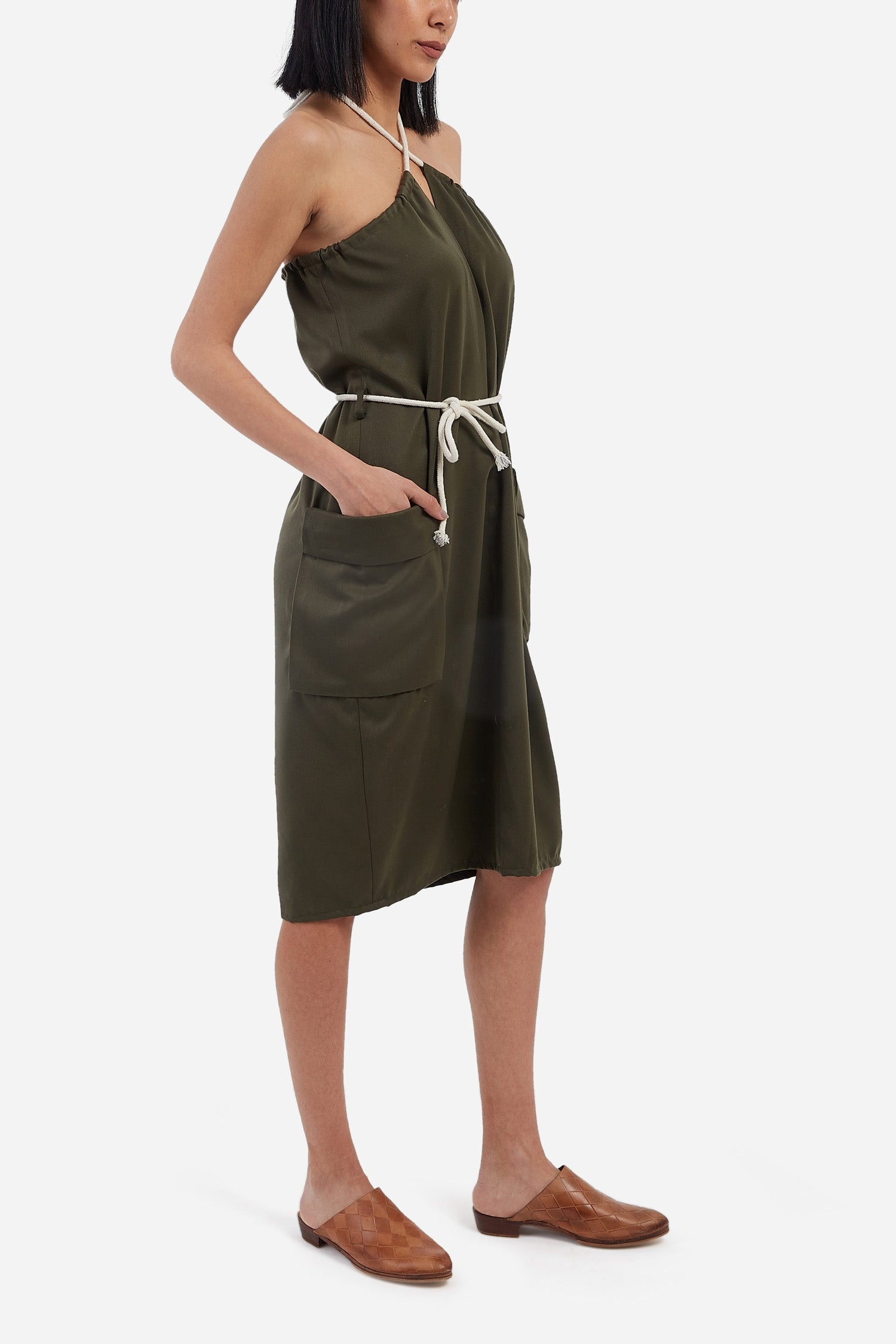 Pocket Dress with Belt