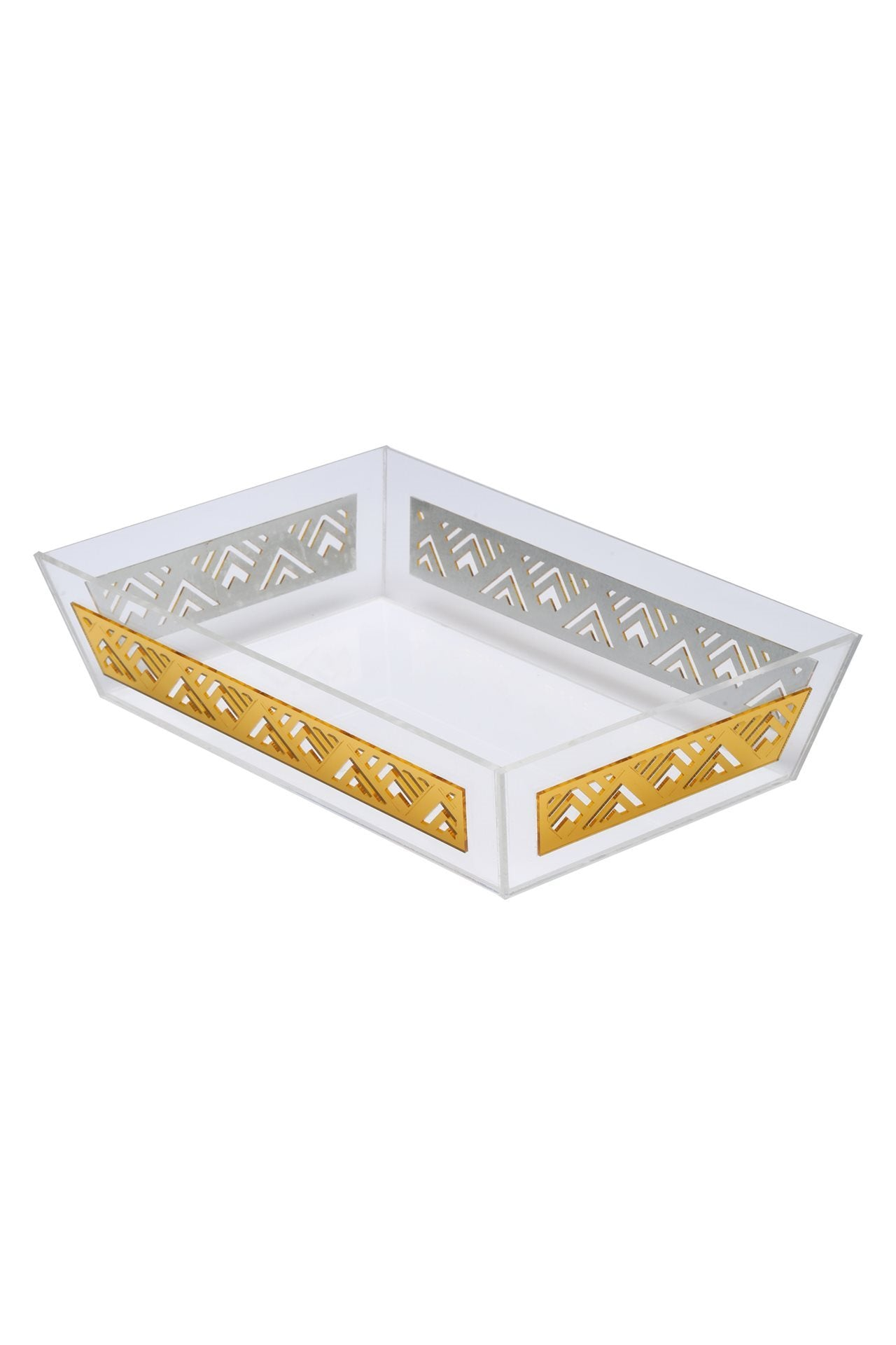 Geometric Rectangular Towel Tray