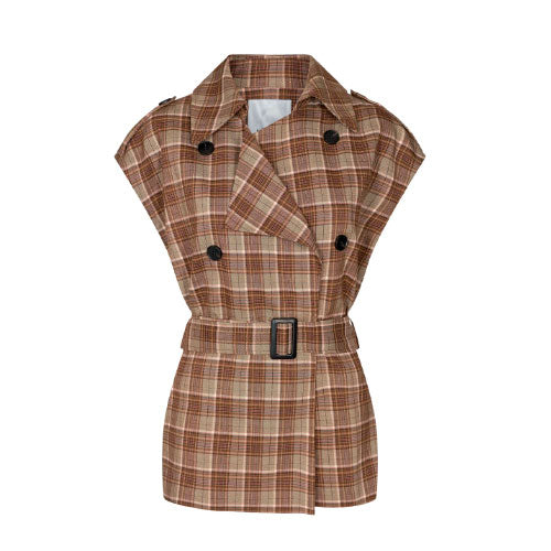 CO' COUTURE Taylor Check Waistcoat