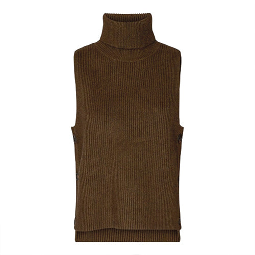 Row buttom vest brun