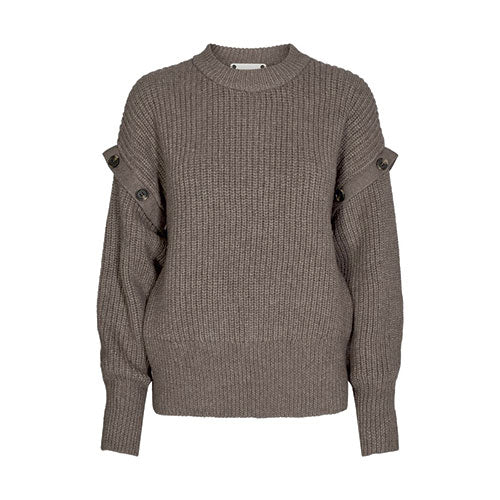 Rowie Buttom Knit Walnut