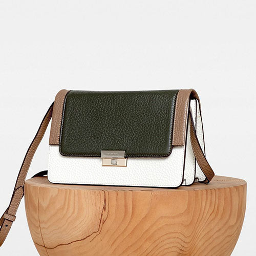 DECADENT Mary Cross Bag Hvid/grøn/sand