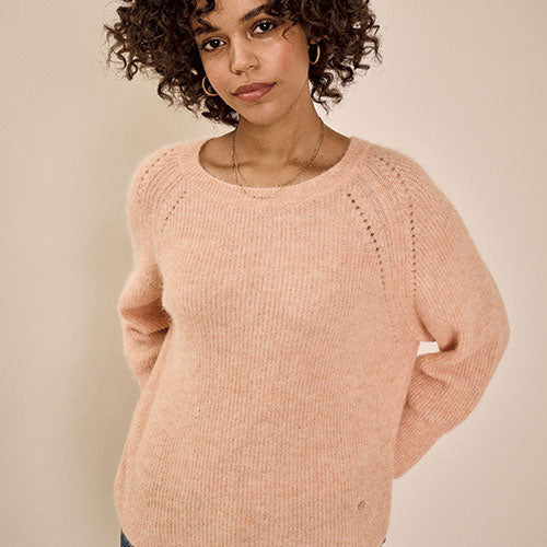 MOS MOSH Tammy Knit Peach Parfait