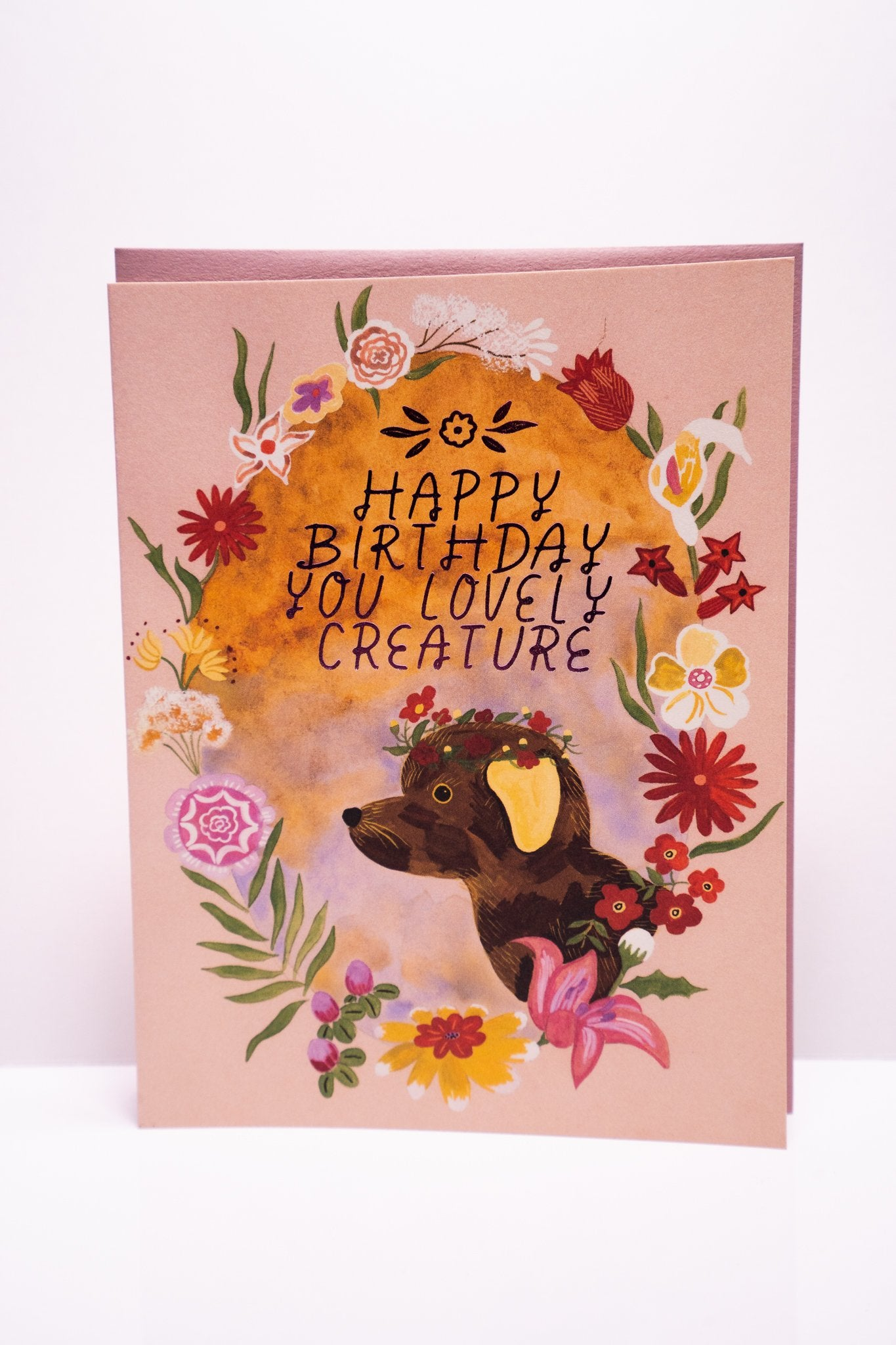 Lovely Creature Birthday Card