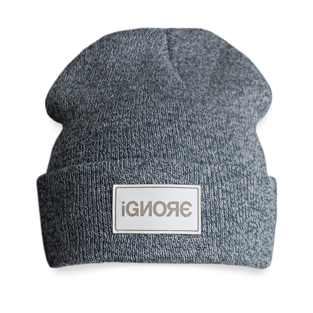 Beanie Ignore Design Heather Grey