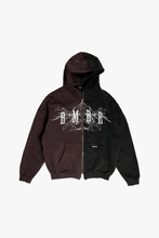 Lade das Bild in den Galerie-Viewer, ZIP HOODIE - VINTAGE BURGUNDY/BLACK