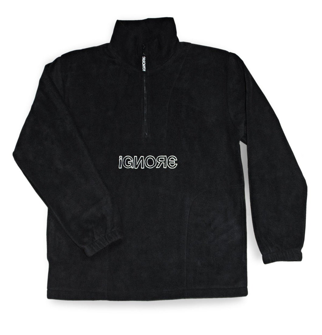Fleece Sweater Black/White