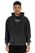 Lade das Bild in den Galerie-Viewer, HOODIE BLANC LOGO21 BLACK WASHED