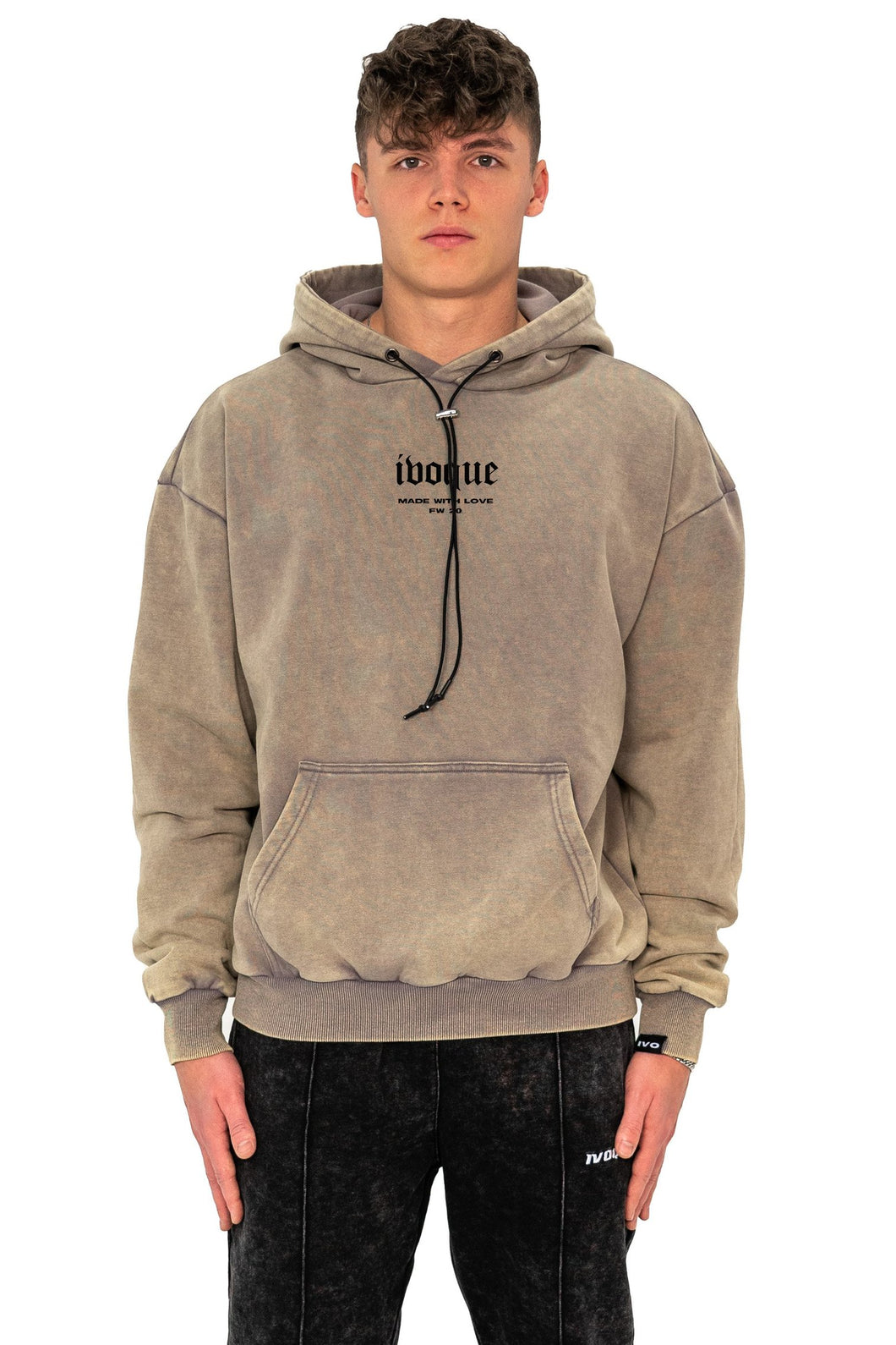 HOODIE CIRCLE SAND WASHED