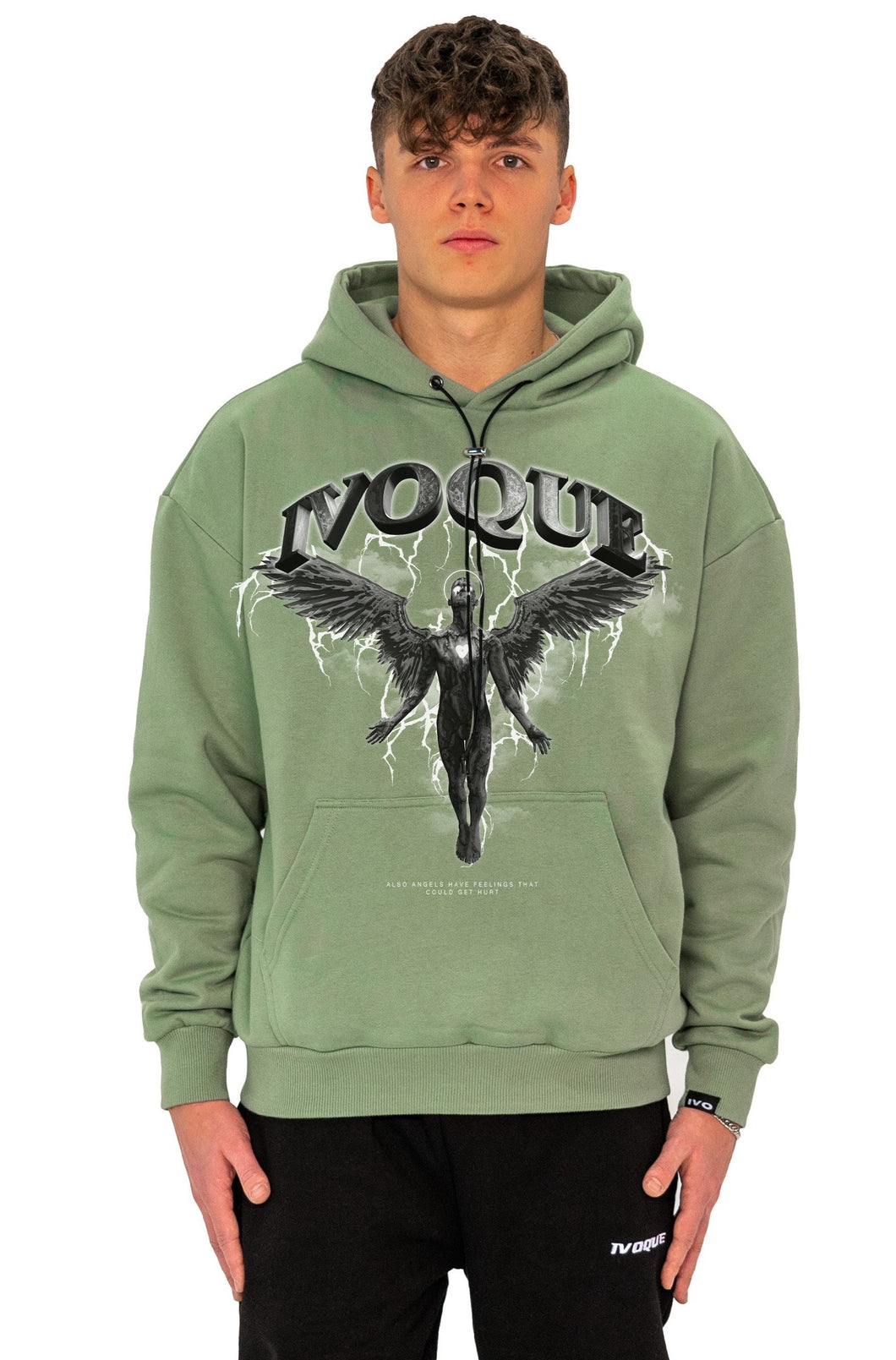 HOODIE DARK ANGEL MINT GREEN