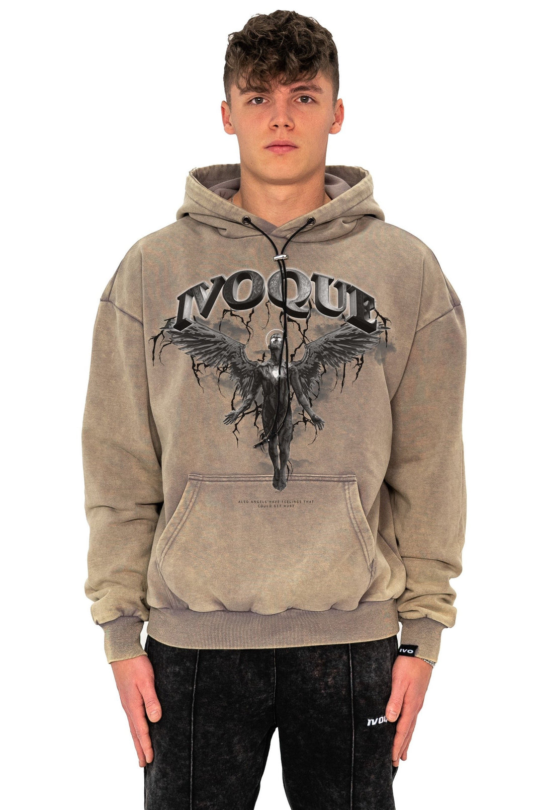 HOODIE DARK ANGEL SAND WASHED