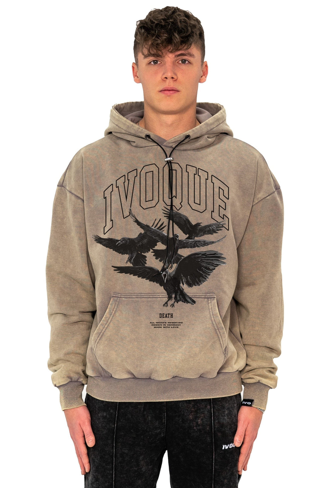 HOODIE DEATH SAND WASHED