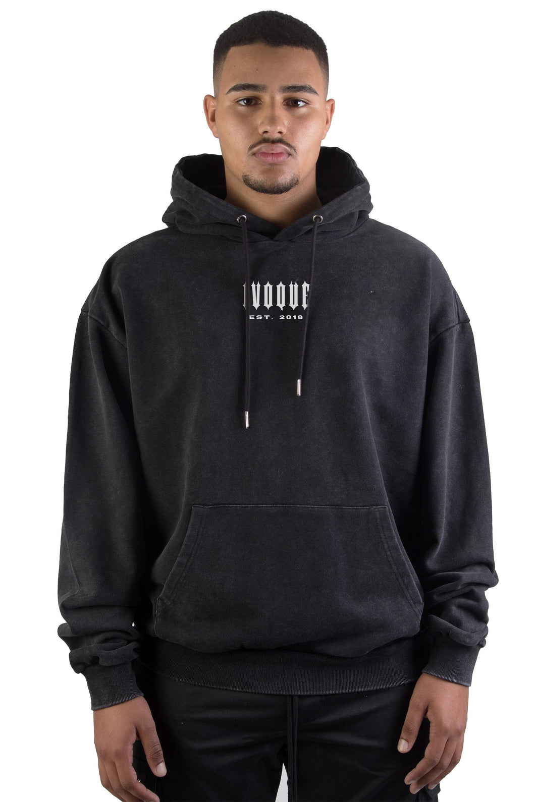 Hoodie Black Washed Circle