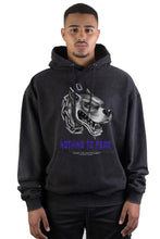 Lade das Bild in den Galerie-Viewer, Hoodie Black Washed Fear