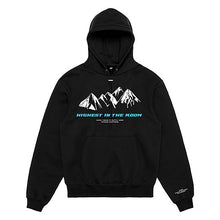 Lade das Bild in den Galerie-Viewer, Hoodie Black 'HIGHEST' Blue