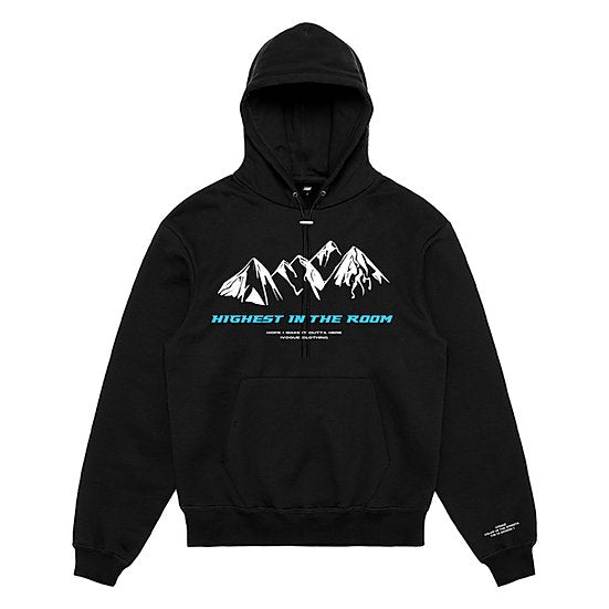 Hoodie Black 'HIGHEST' Blue