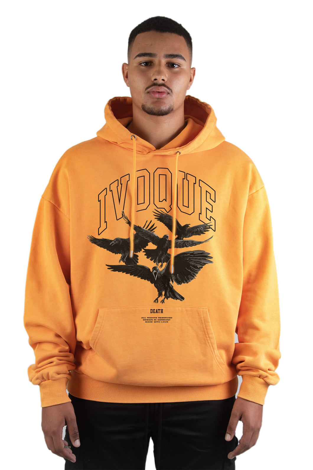 Hoodie Orange Washed Death