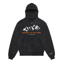 Lade das Bild in den Galerie-Viewer, Hoodie Washed Grey 'HIGHEST' Orange