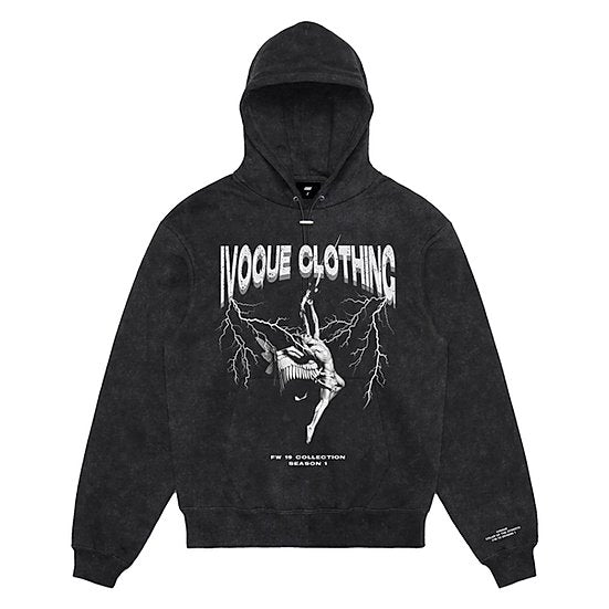 Hoodie Washed Grey 'THUNDERSTORM'