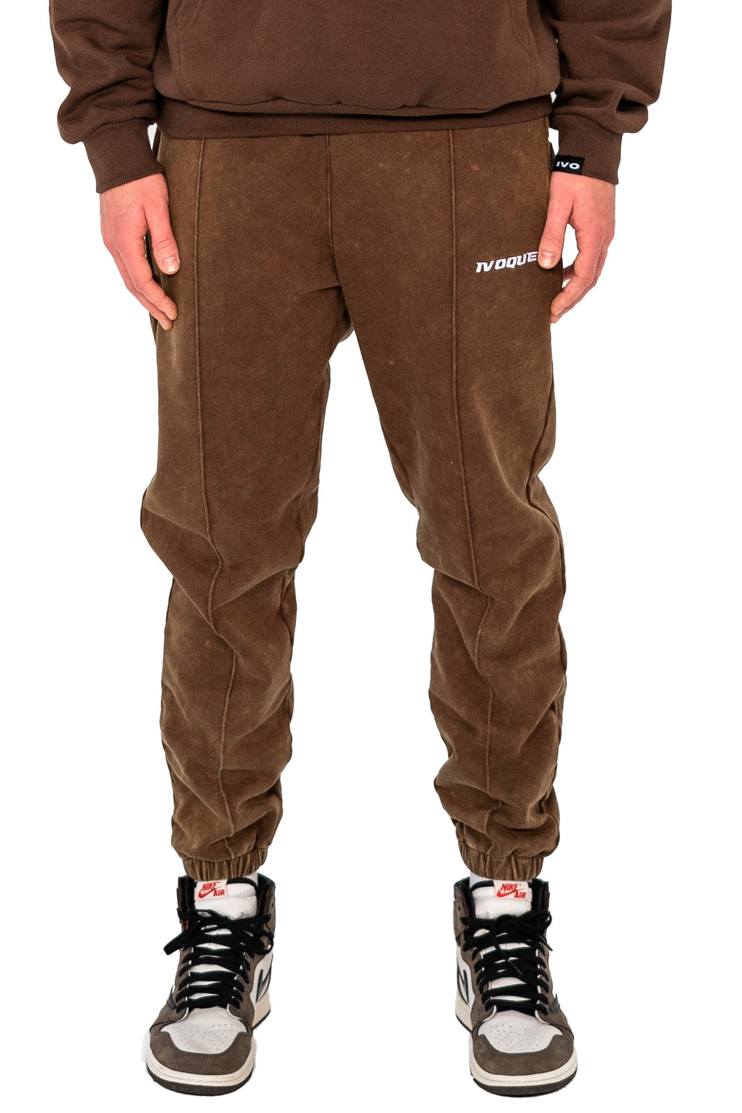 JOGGER PANTS BROWN WASHED