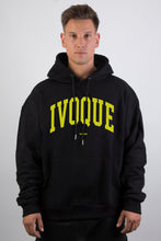 Lade das Bild in den Galerie-Viewer, Logo Hoodie Black Yellow