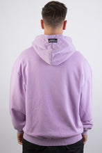 Lade das Bild in den Galerie-Viewer, Logo Hoodie Purple Washed White II