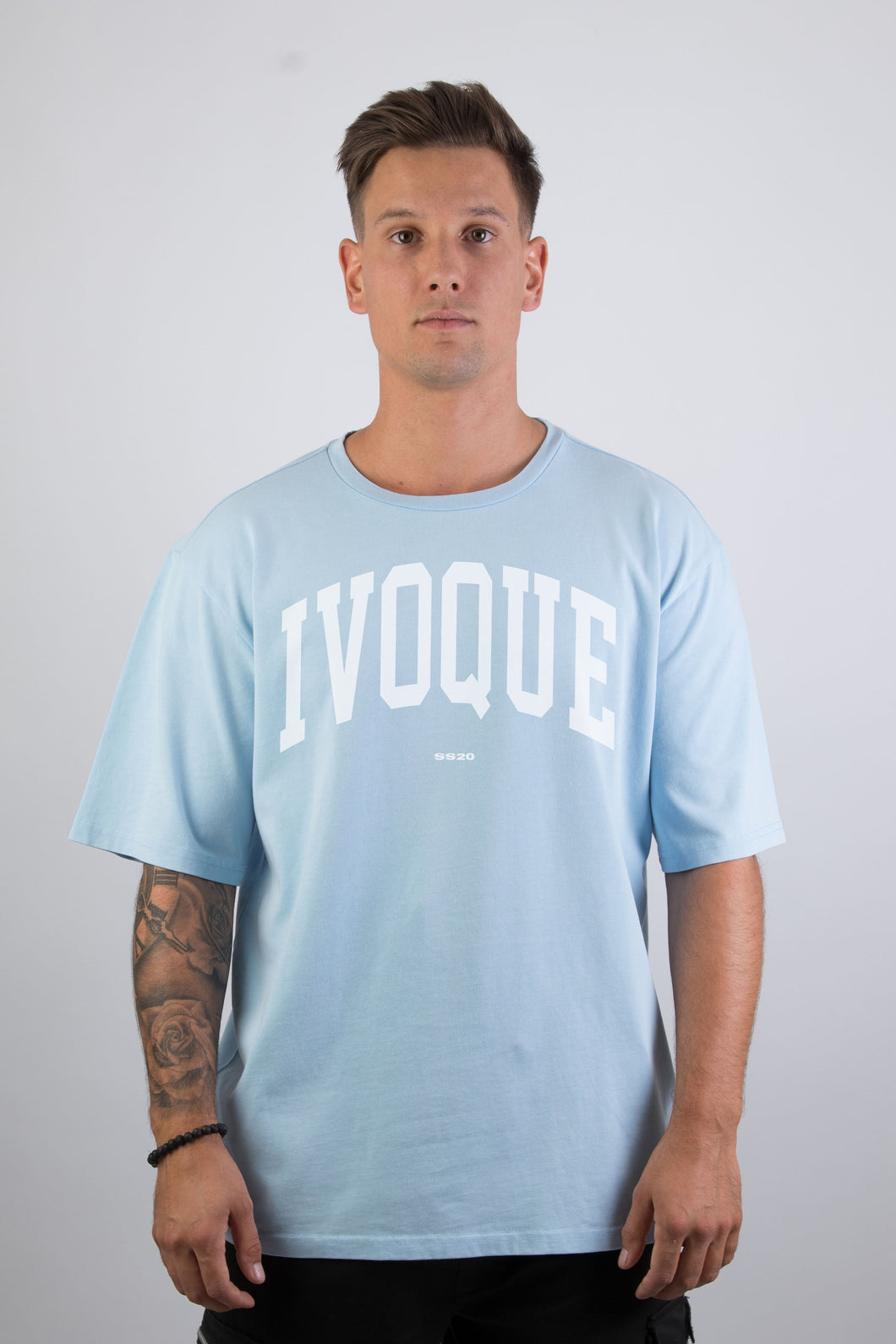 Logo Tee Washed Blue White