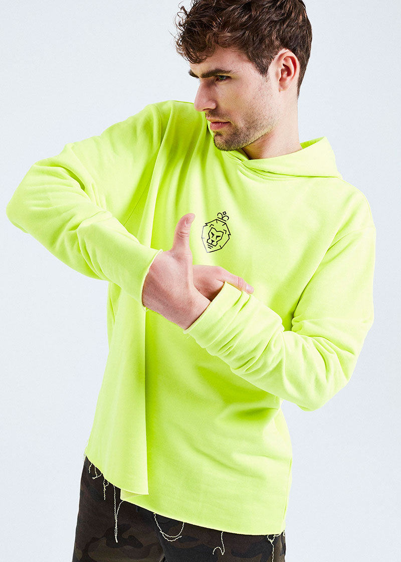 NEON YELLOW WE ARE LUIS HOODIE