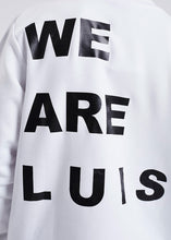 "Lade das Bild in den Galerie-Viewer, White ""We are Luis"" Sweater"