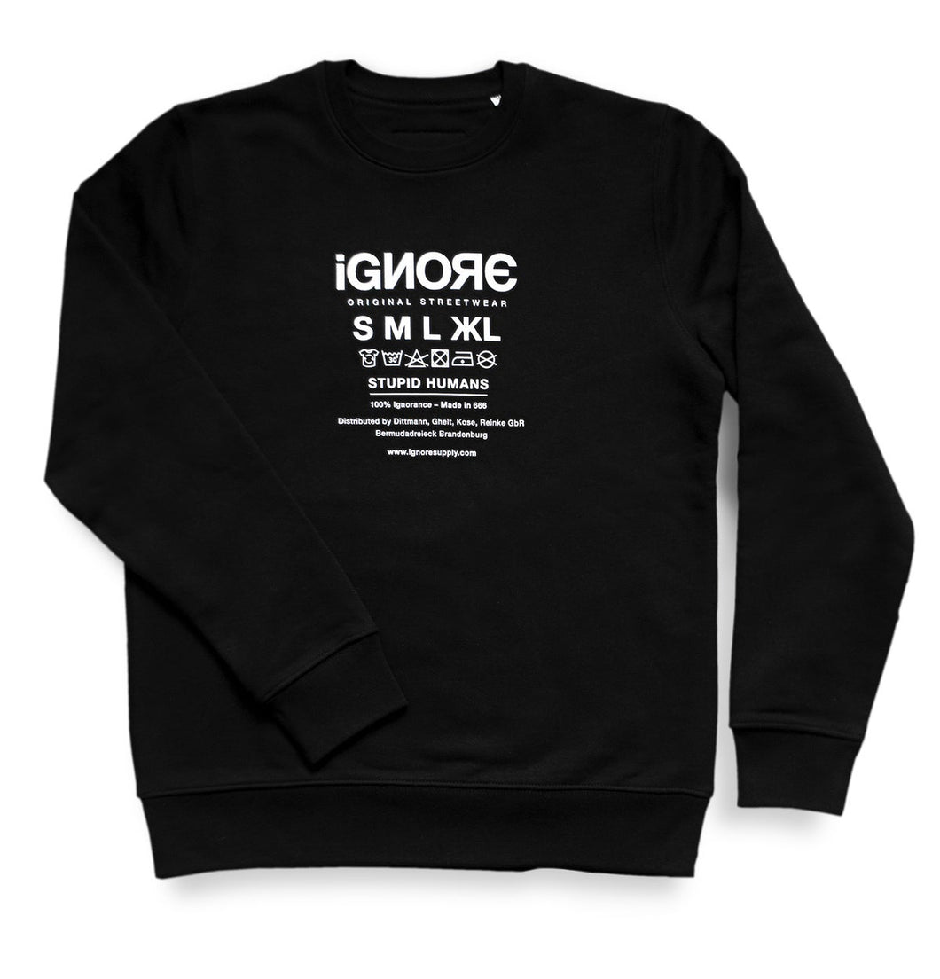 Ignore Sweater Black