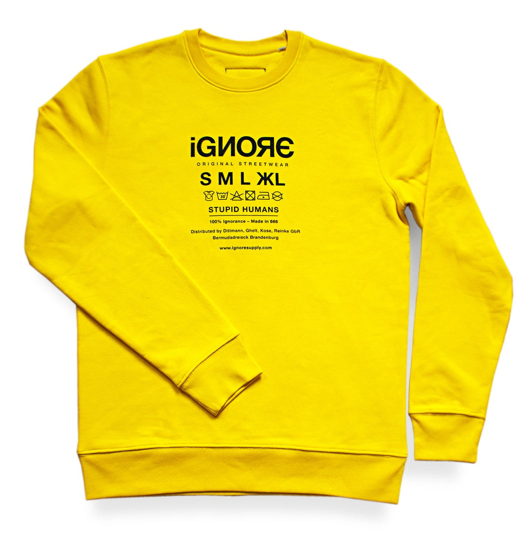 Ignore Sweater Yellow