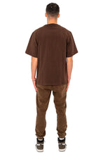 Lade das Bild in den Galerie-Viewer, T-SHIRT COLLEGE GREEN LOGO MOCCA BROWN
