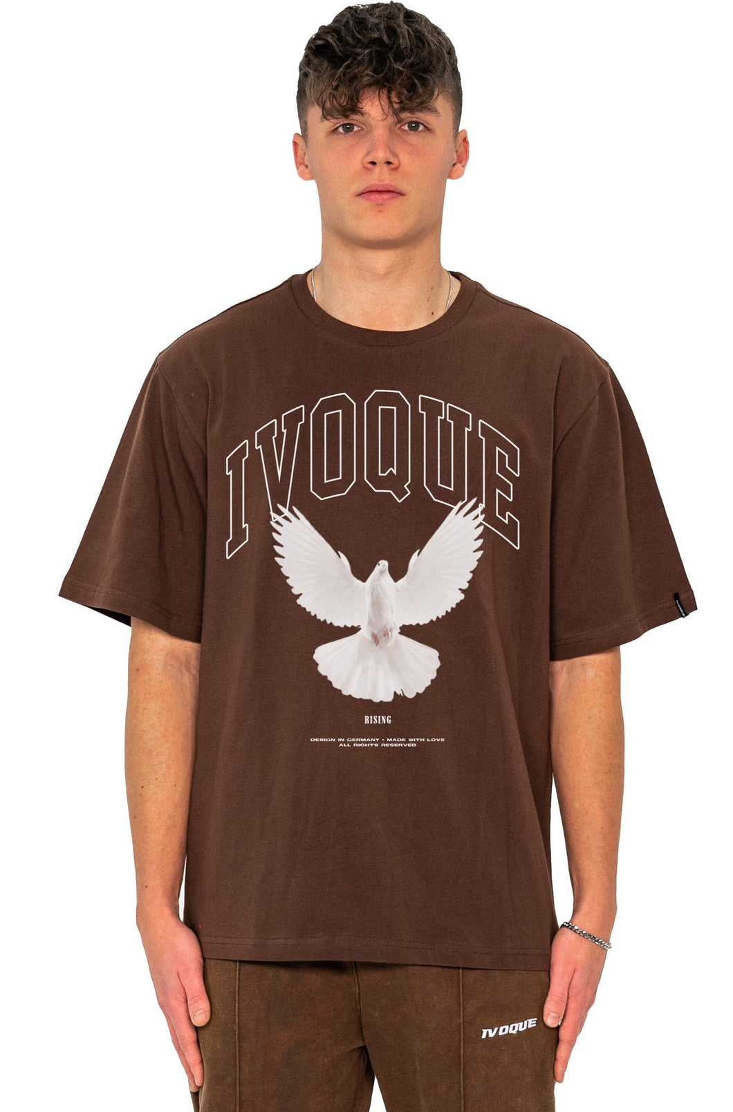 T-SHIRT RISING MOCCA BROWN