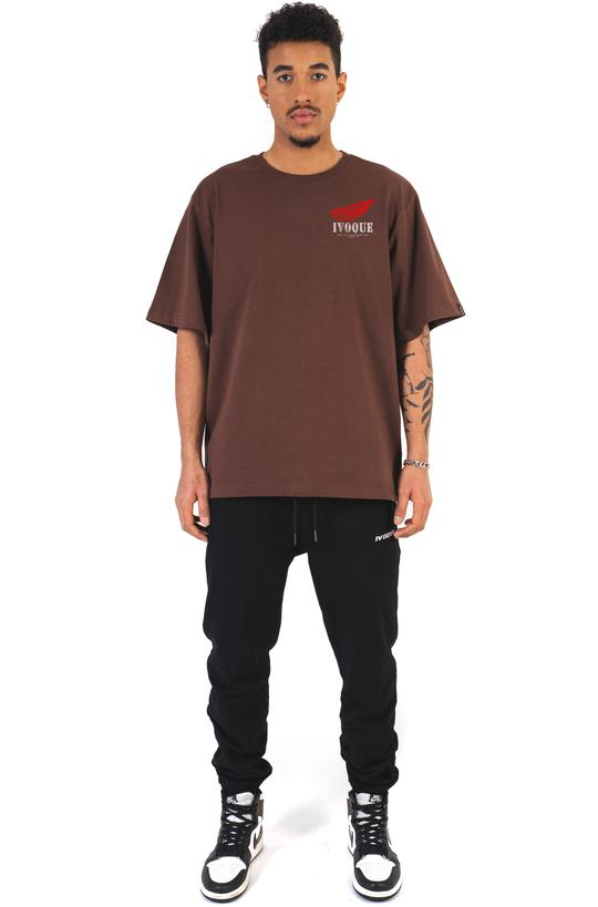 T-SHIRT WINGS V2 MOCCA BROWN