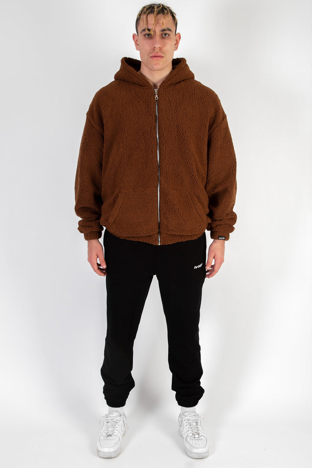 TEDDY JACKET BROWN COLLEGE