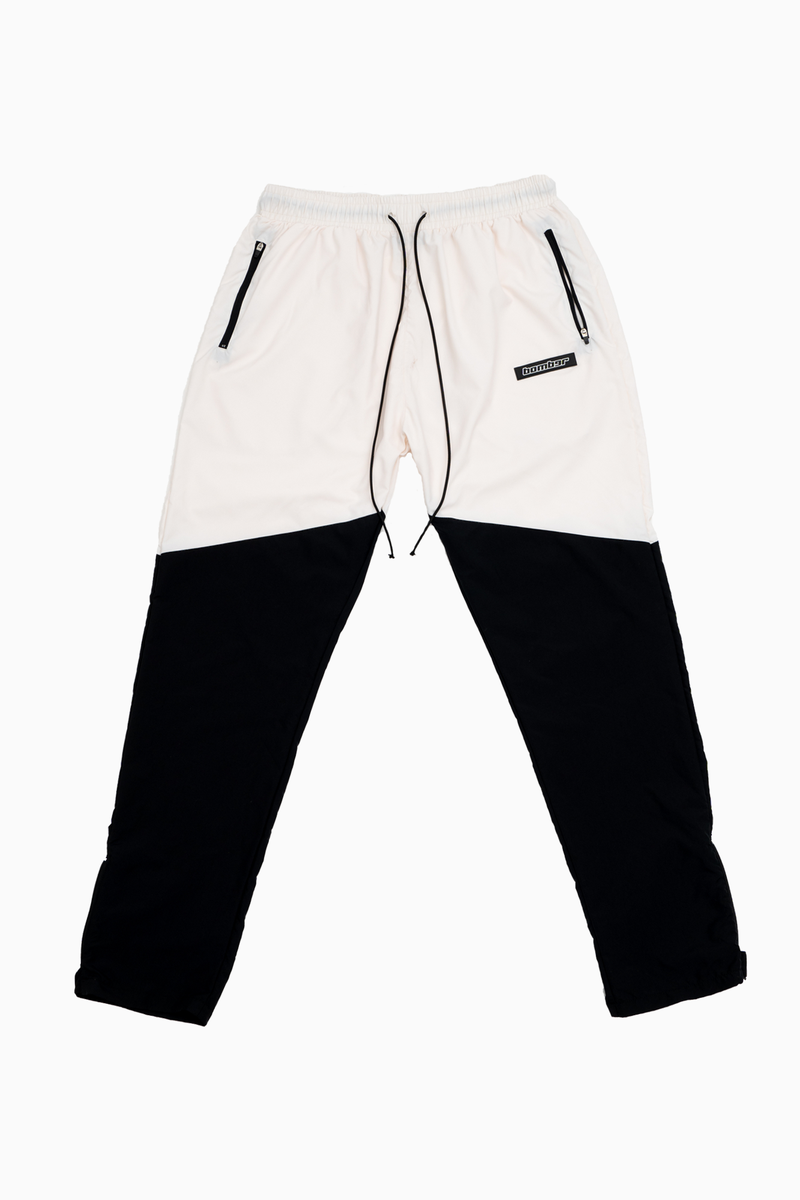 Velcro Pants Cream/Black