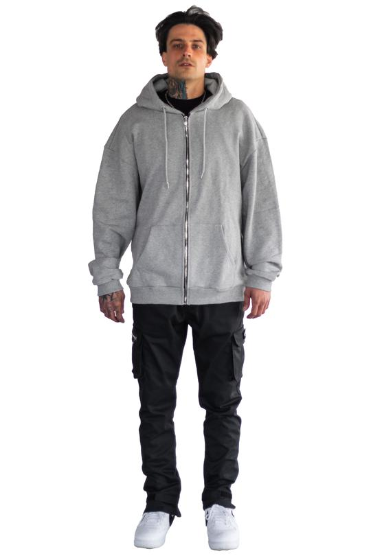 ZIP JACKET LIGHT GREY