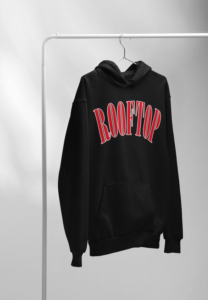 College / Black and Red Hoodie