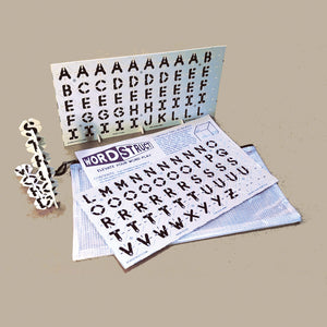 WordStruct WHITE set.  Make 3D word structures and diagonal crossword type words.  Hot new 3D STEM word game. Develops word skills and spatial reasoning.