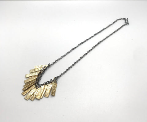 Hera Bar Necklace on Oxidised Chain
