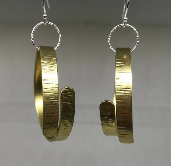 Massive Brass & Silver Hera Earrings