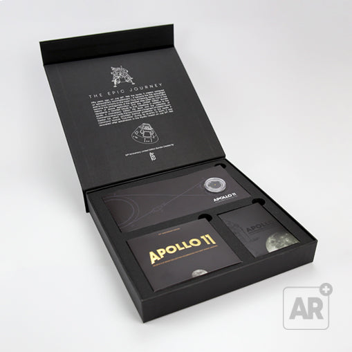 APOLLO 11 FOIL BUNDLE - Exclusive bundle that includes a real fragment of mission-flown Kapton Foil that protected the Columbia Command Module during its re-entry to Earth. A unique collector's item.