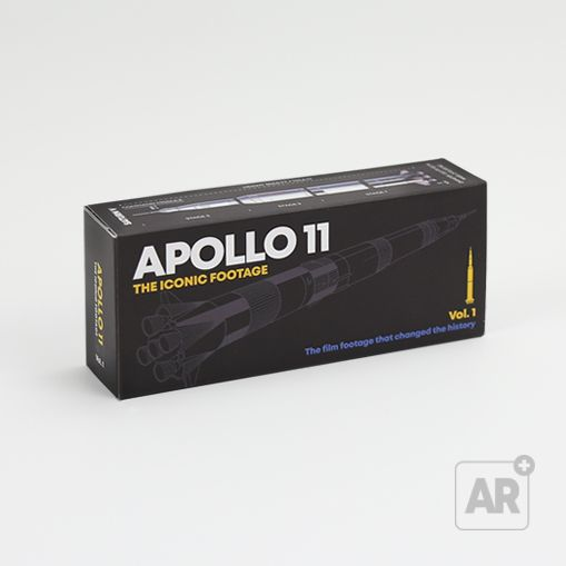 Flip book Apollo 11 by Flipboku with Augmented Reality. Space Gift with original NASA footage.